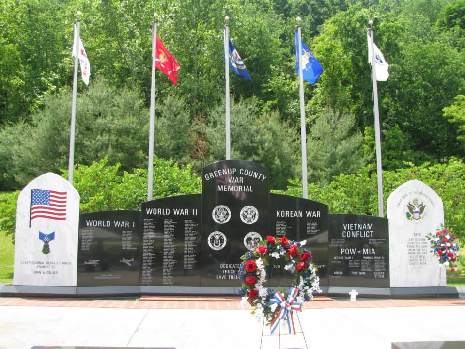 Greenup County War Memorial.