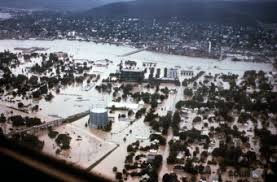 Aerial View of Corning the Morning After the Flood Hit