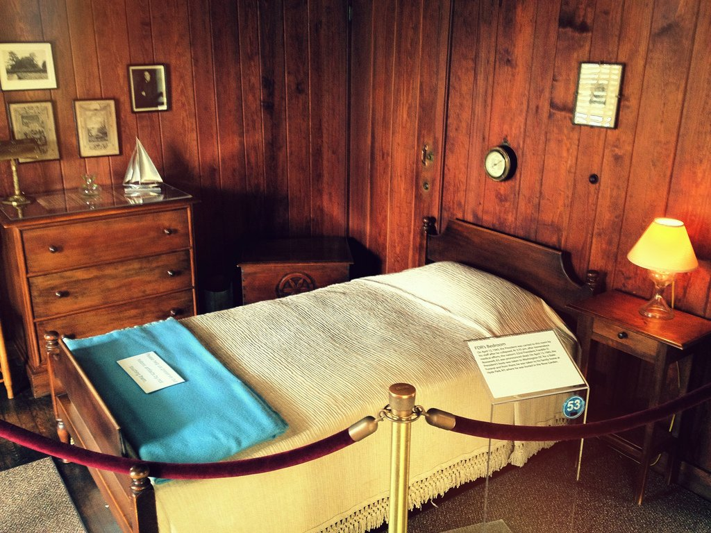 FDR's bedroom in the Little White House, where he died after suffering a cerebral hemorrhage in 1945