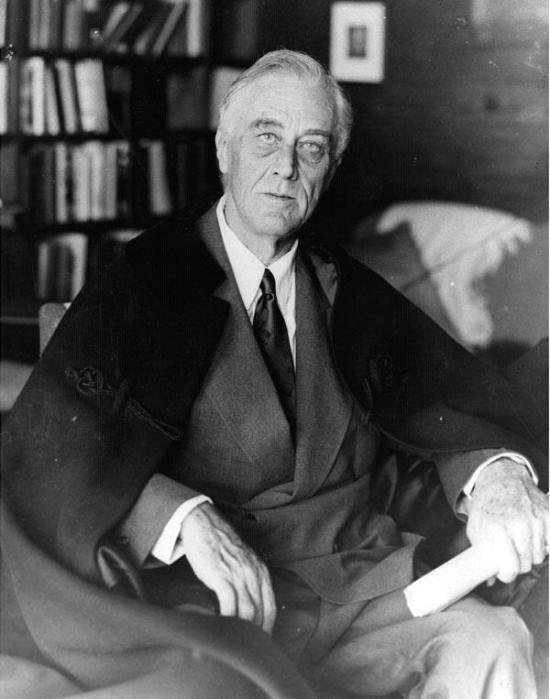One of the final photographs of FDR taken by Madame Elizabeth Shoumatoff's photographer, Nicholas Robbins, on April 11, 1945
