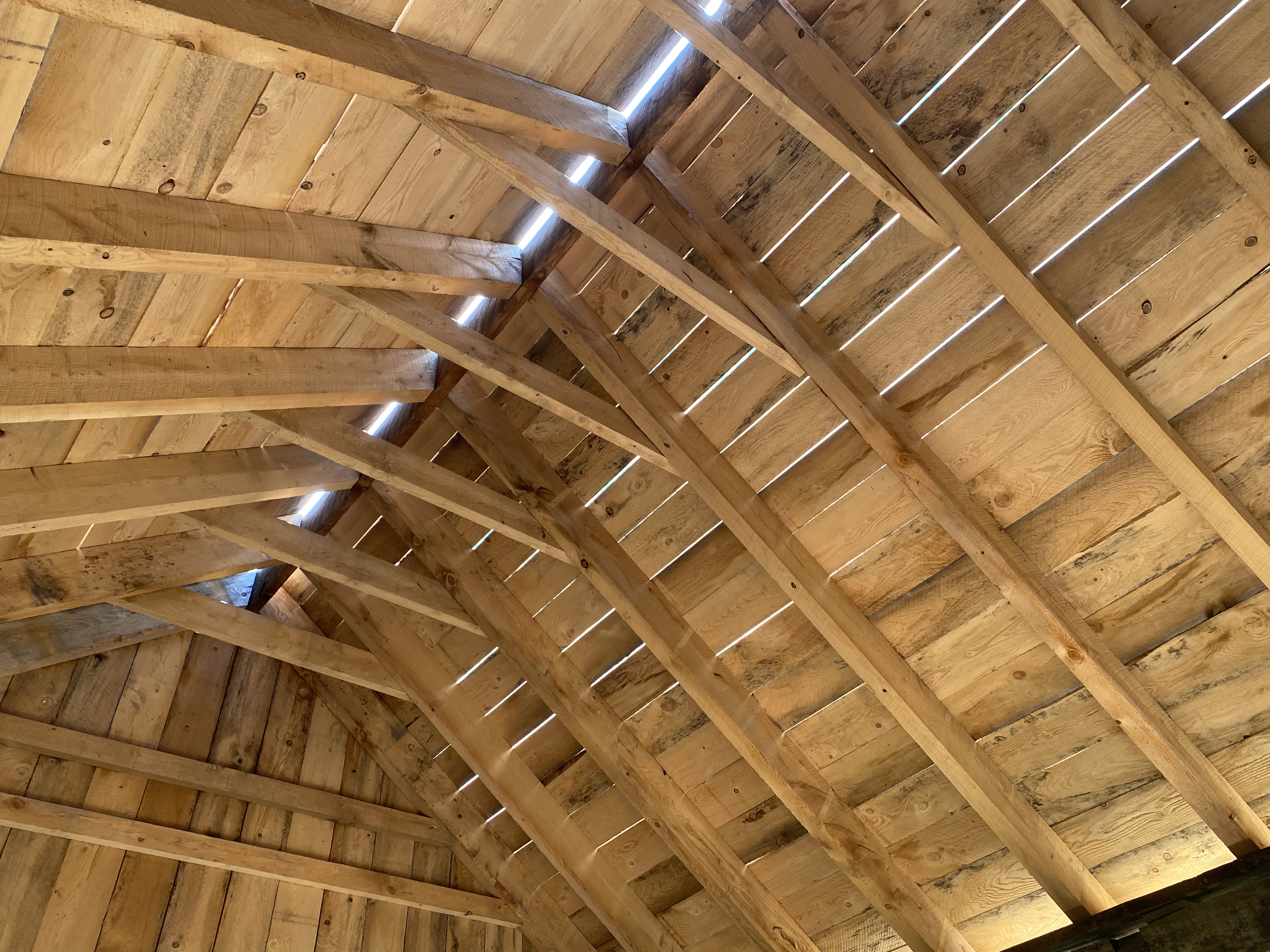 The progress of the open ceiling.