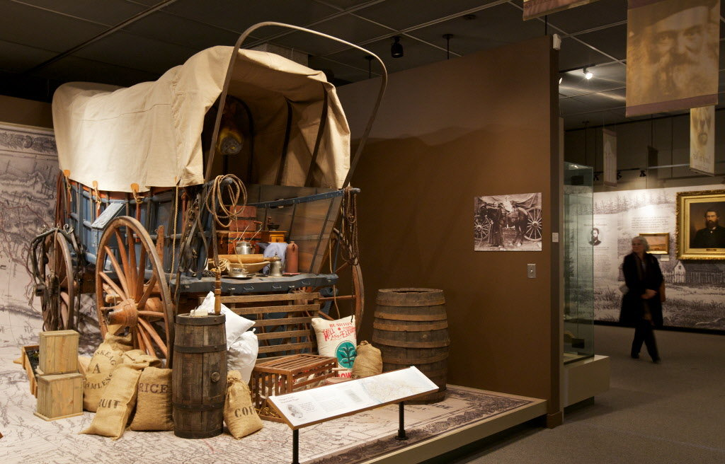 The museum features exhibits that highlight Oregon's history from ancient times to today.