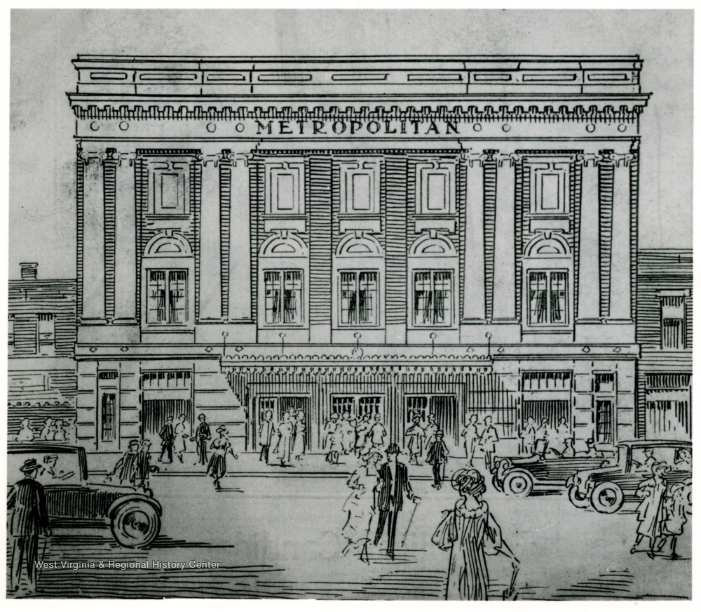 Illustration of the Metropolitan Theater from the 1924 Grand Opening program.