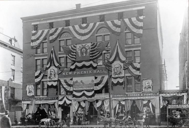 1899 Image of Phenix Hall, Concord, NH