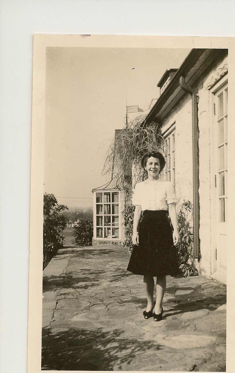 """Jo"" outside of Admin in 1944"