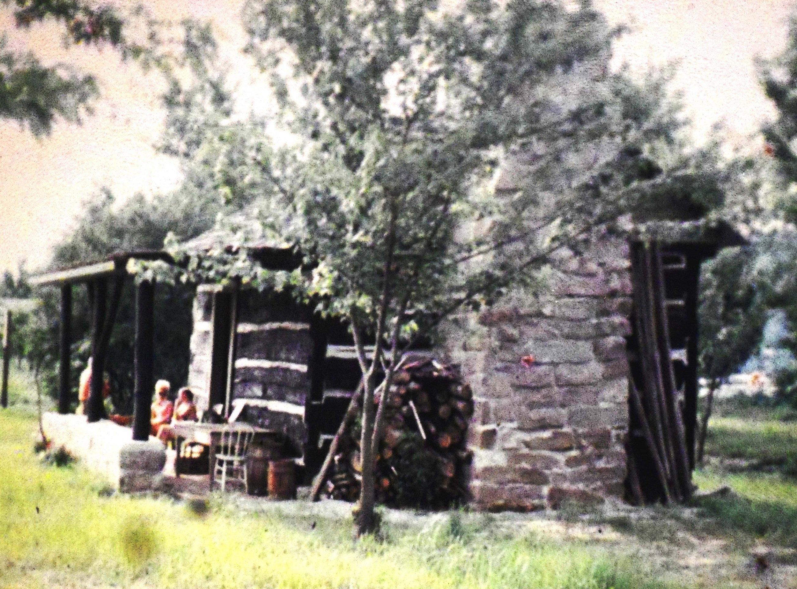 1972, shortly after the move. This was the start of the St. Albans Historical Society, formed to maintain the cabin