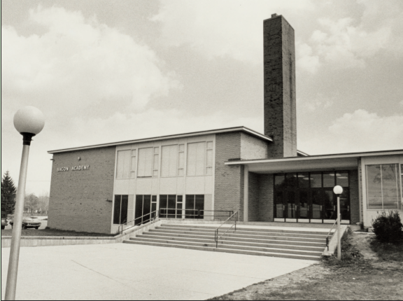 Bacon Academy in 1963, Second Building, Presently William J. Johnston Middle School