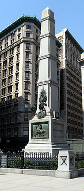 A picture of the Worth Monument