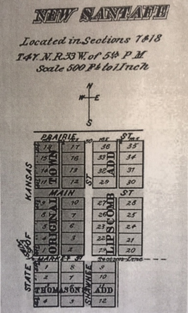 Plat Map of New Santa Fe in 1853
