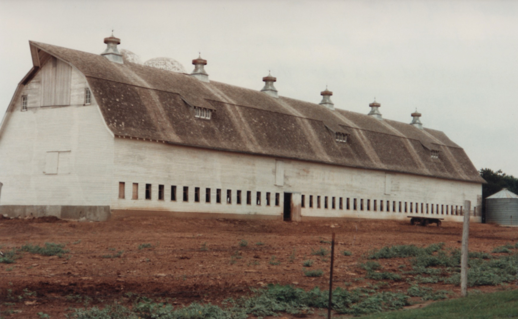 The Ackerhurst Dairy Barn before renovations.  The Barn was originally white but was painted red later.