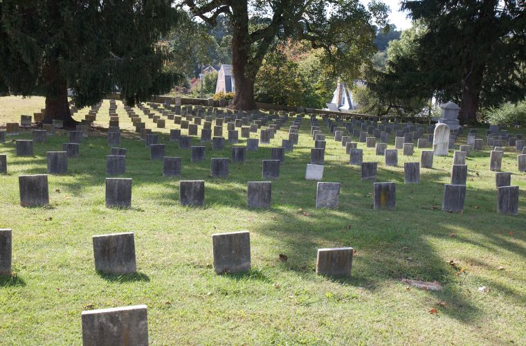 Portion of the cemetery