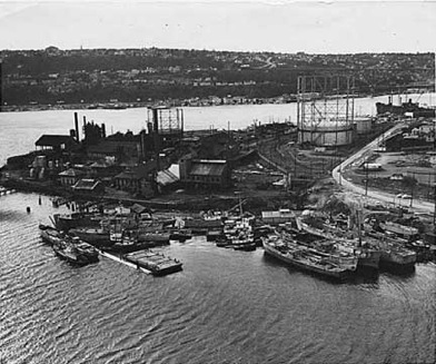 Seattle Gas Company right before it was officially shut down in 1951