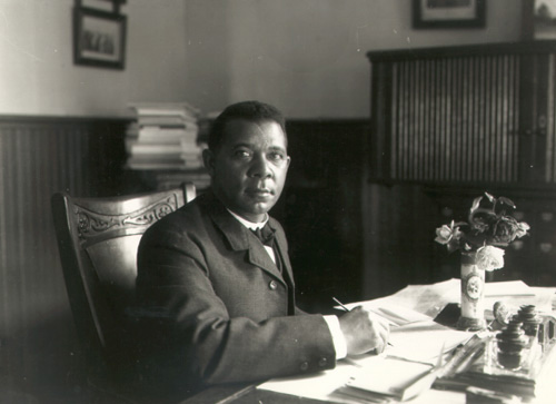 Booker T. Washington in his office, 1902