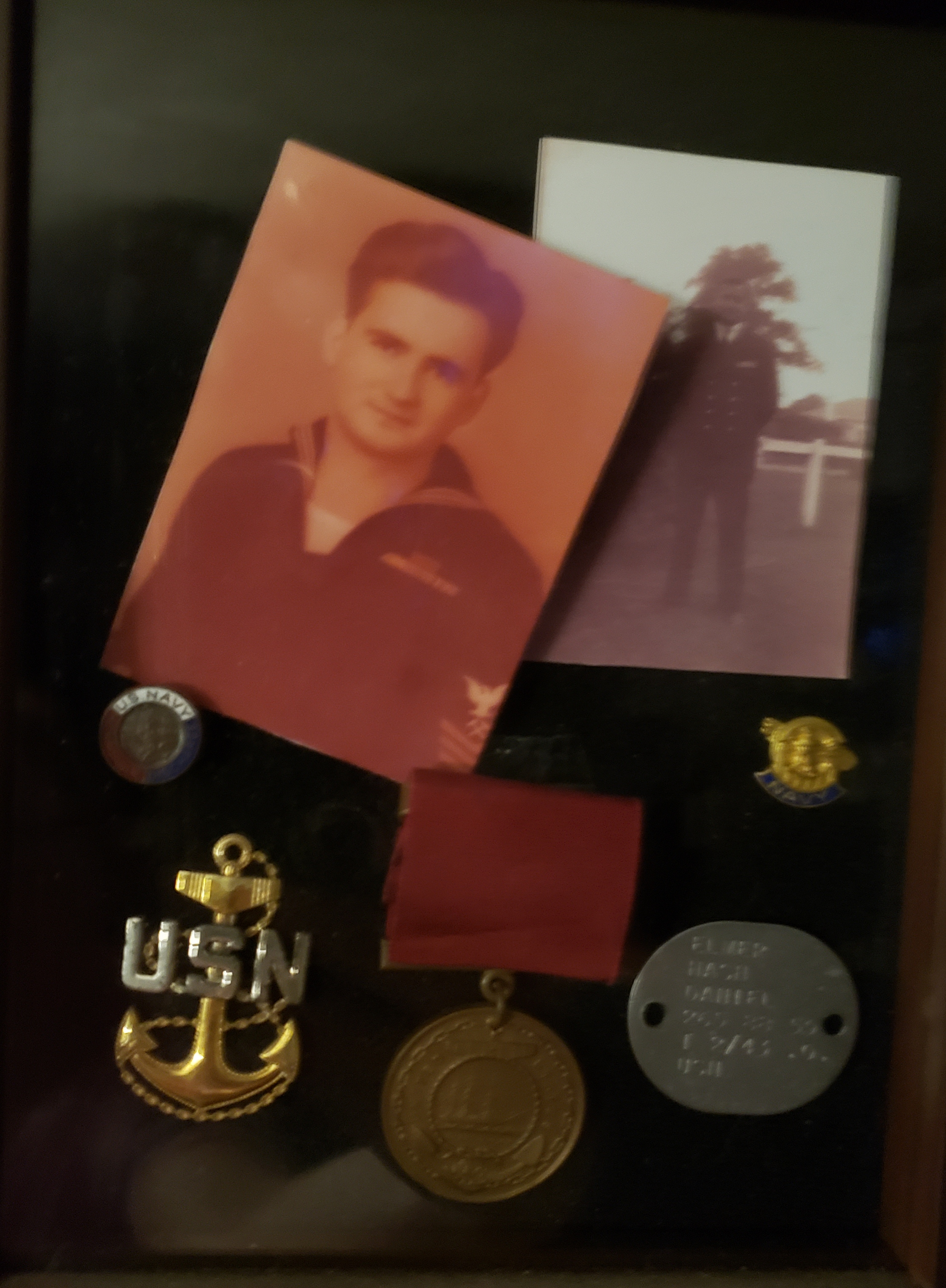 Elmer Daniel picture and medals collection