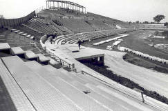 IUPUI University Library shares in its Image collection the development of the Track and Field Stadium in 1982