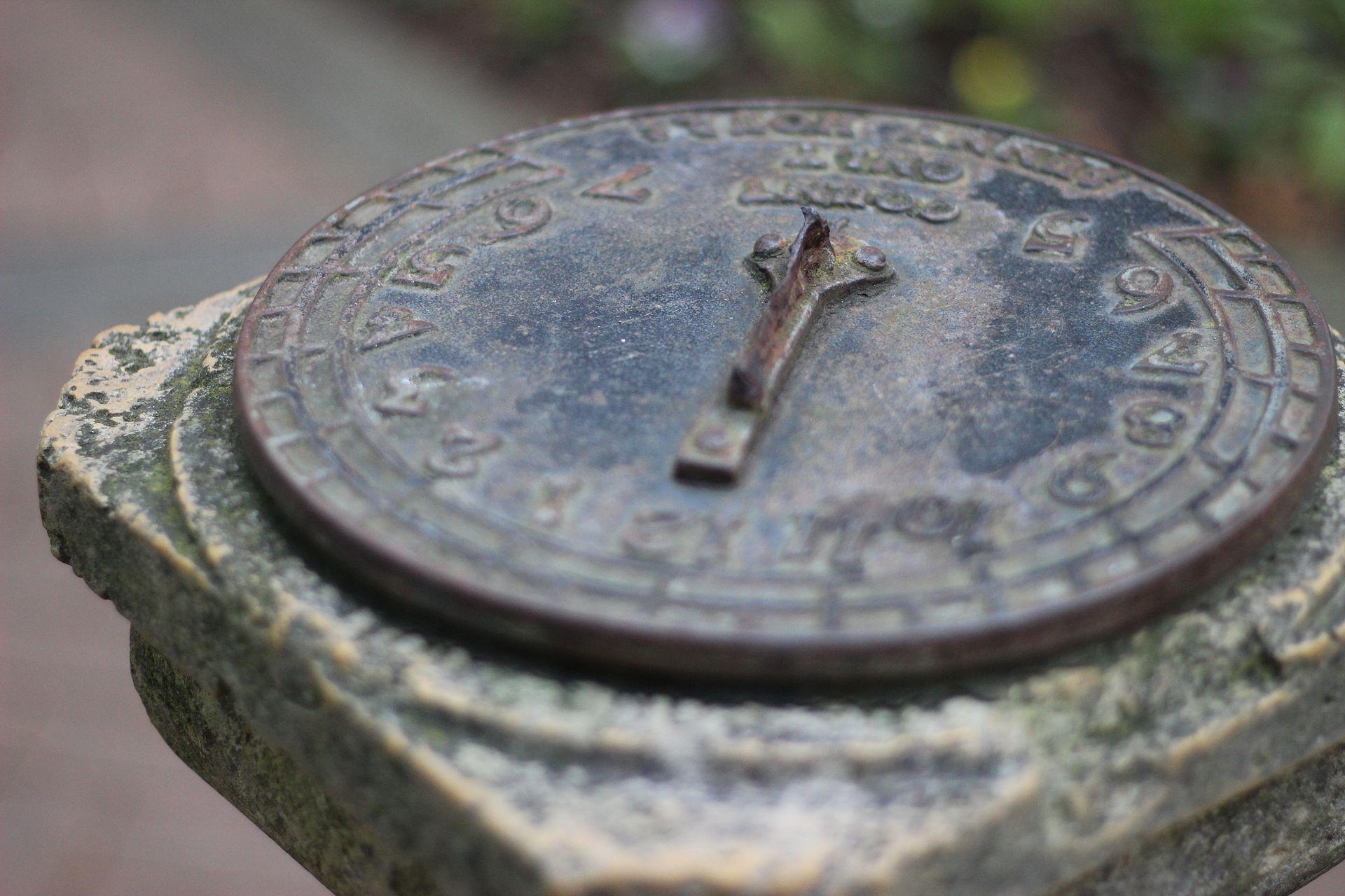 Sundial in the Shakespeare Garden, Golden Gate Park