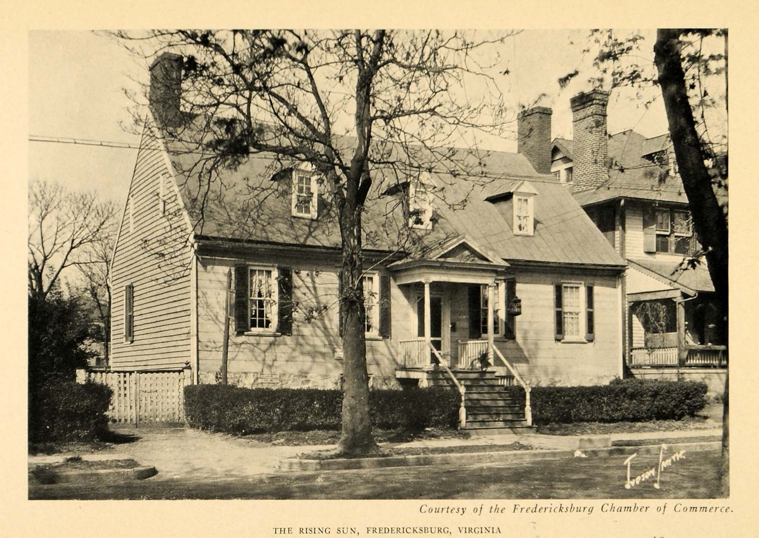 Turn of the century photo of the tavern