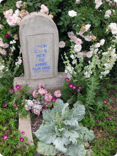 Annie's final resting spot is marked by this headstone outside the Colorado & Southern Depot