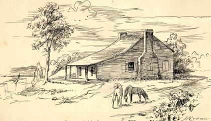 Rendering of how Ferry Farm may have appeared during Washington's youth