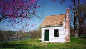 A Survey Shack used by Washington (restored) located on the grounds of Ferry Farm