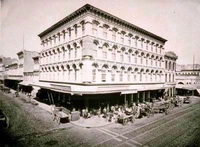 The Niantic Building (c. 1880) was constructed on the site of the earlier Niantic Hotel, which was built upon the location of the ship Niantic