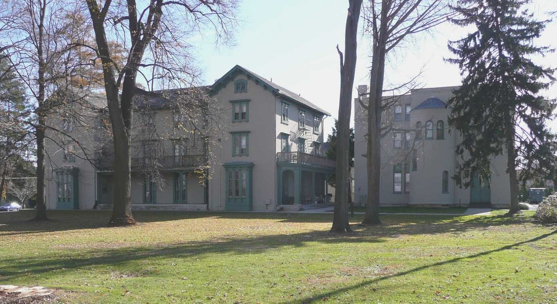 Present day Irving and Columbian Hall that were converted into private apartments in the late 1930s.