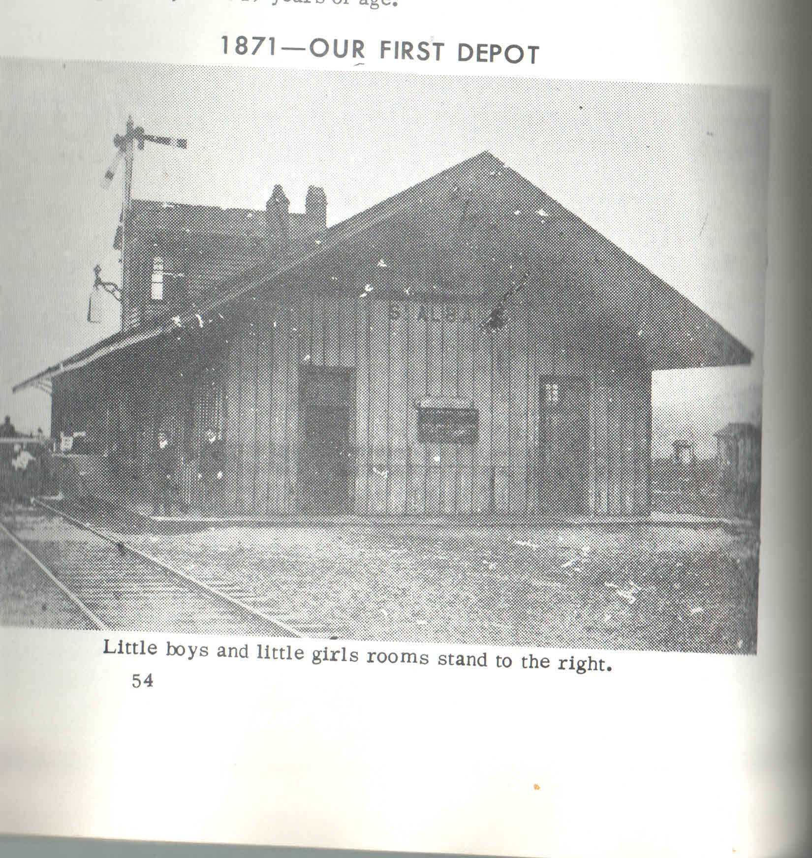 Here is a picture of the very first Chesapeake and Ohio Depot located on 5th Avenue, built in 1871 by Collis P. Huntington