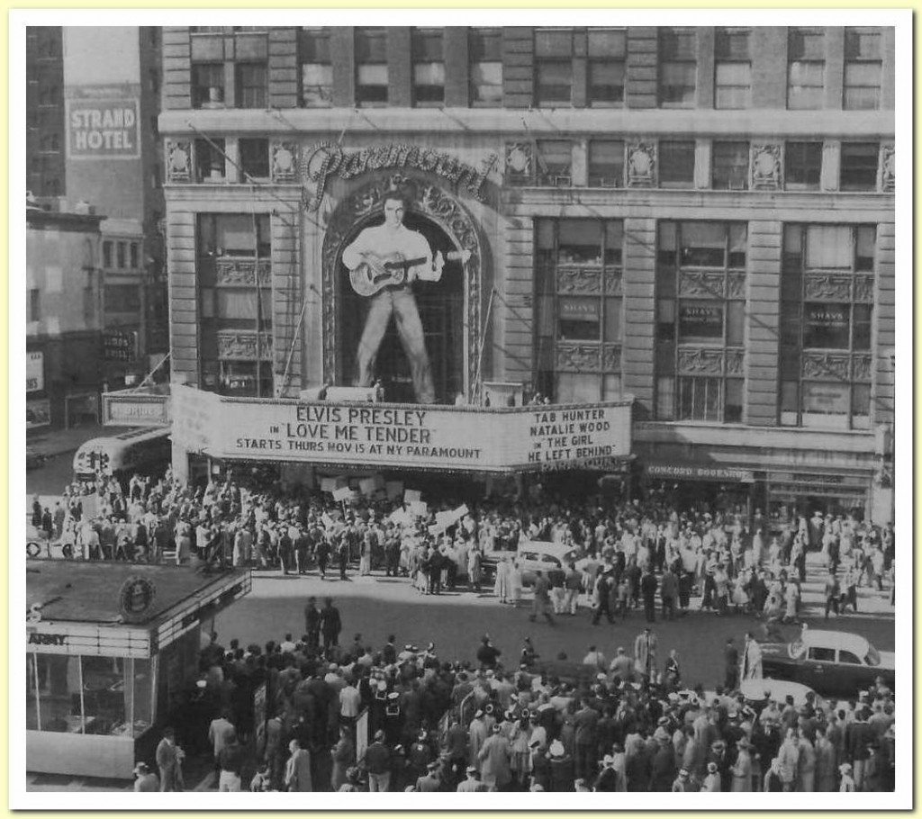 "The Premiere of Elvis' First Movie, ""Love Me Tender,"" at the Paramount, 1956"