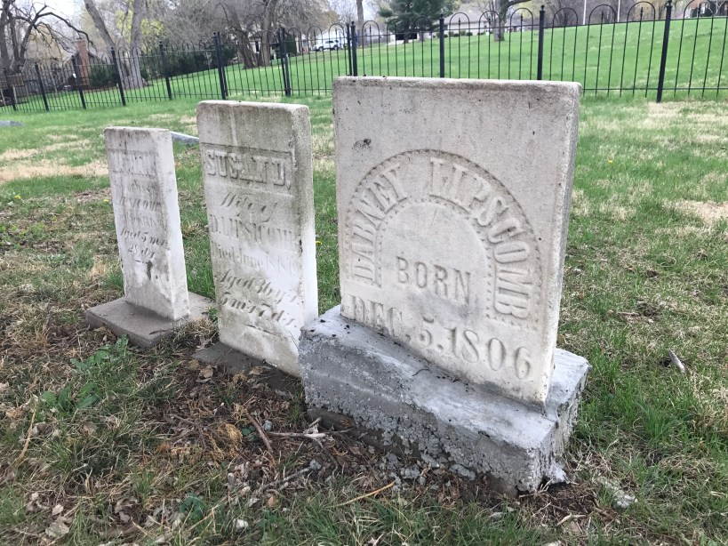 The Lipscomb Family headstones in the cemetery