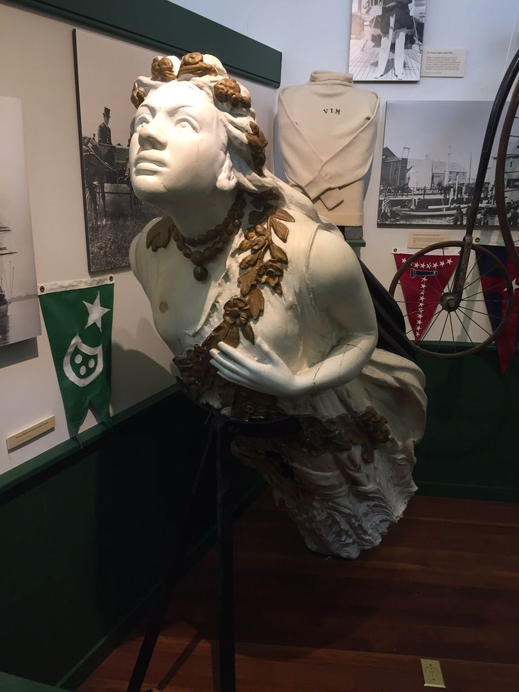 "The figurehead from the yacht, ""Aloha,"" which served the U.S. during World War I."