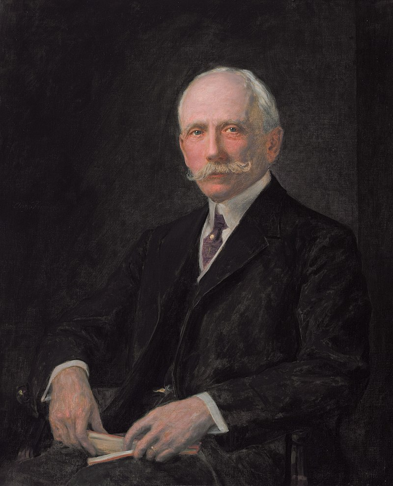 Oil painting of Dr. Dudley Peter Allen created posthumously by artist August Reinhold Franzén.