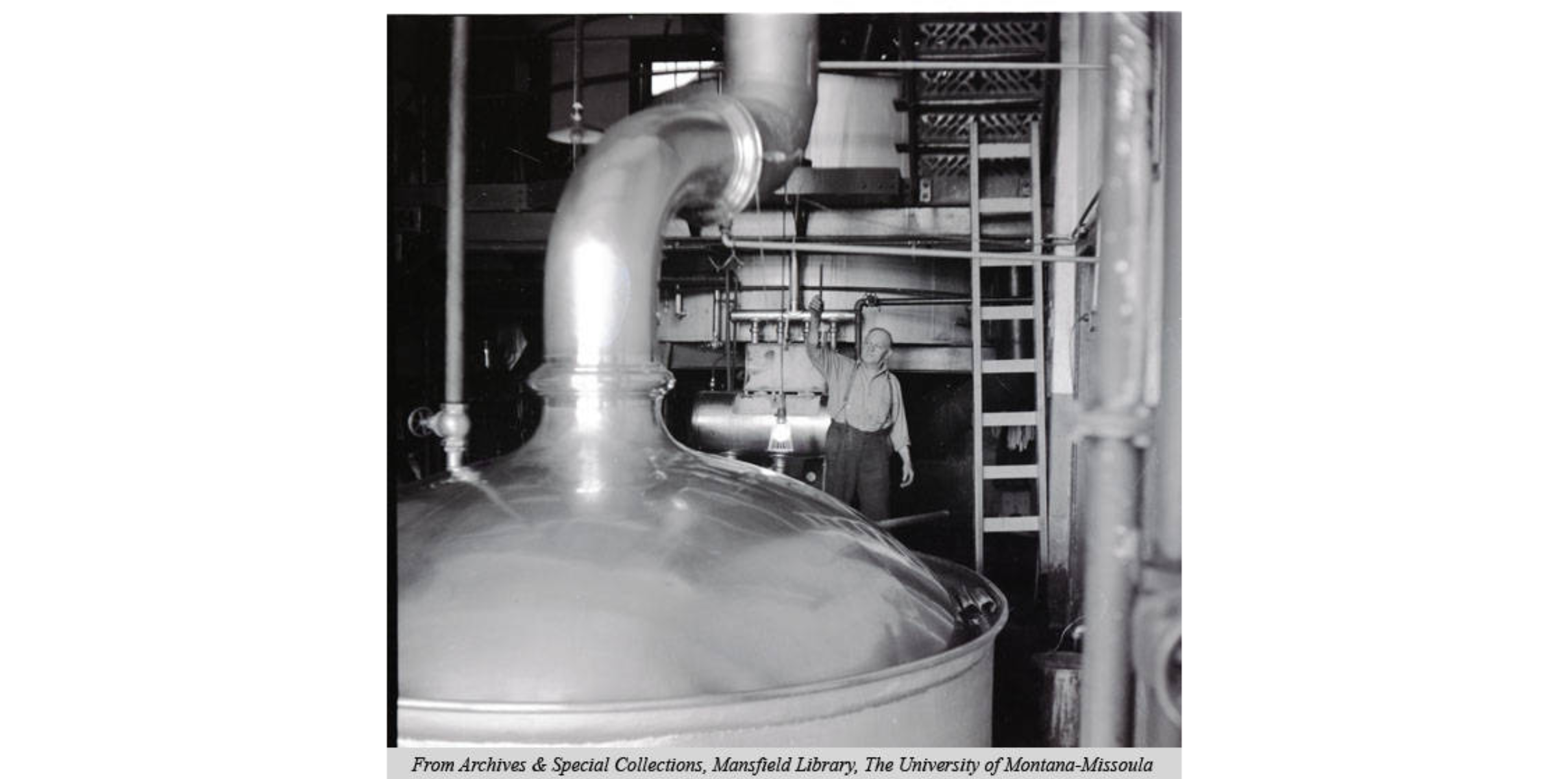 Brewing Tank in the Garden City Brewery, unknown date