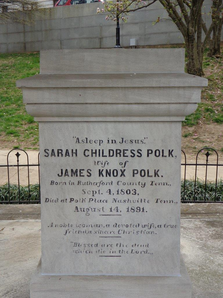 James and Sarah Polk's Tomb