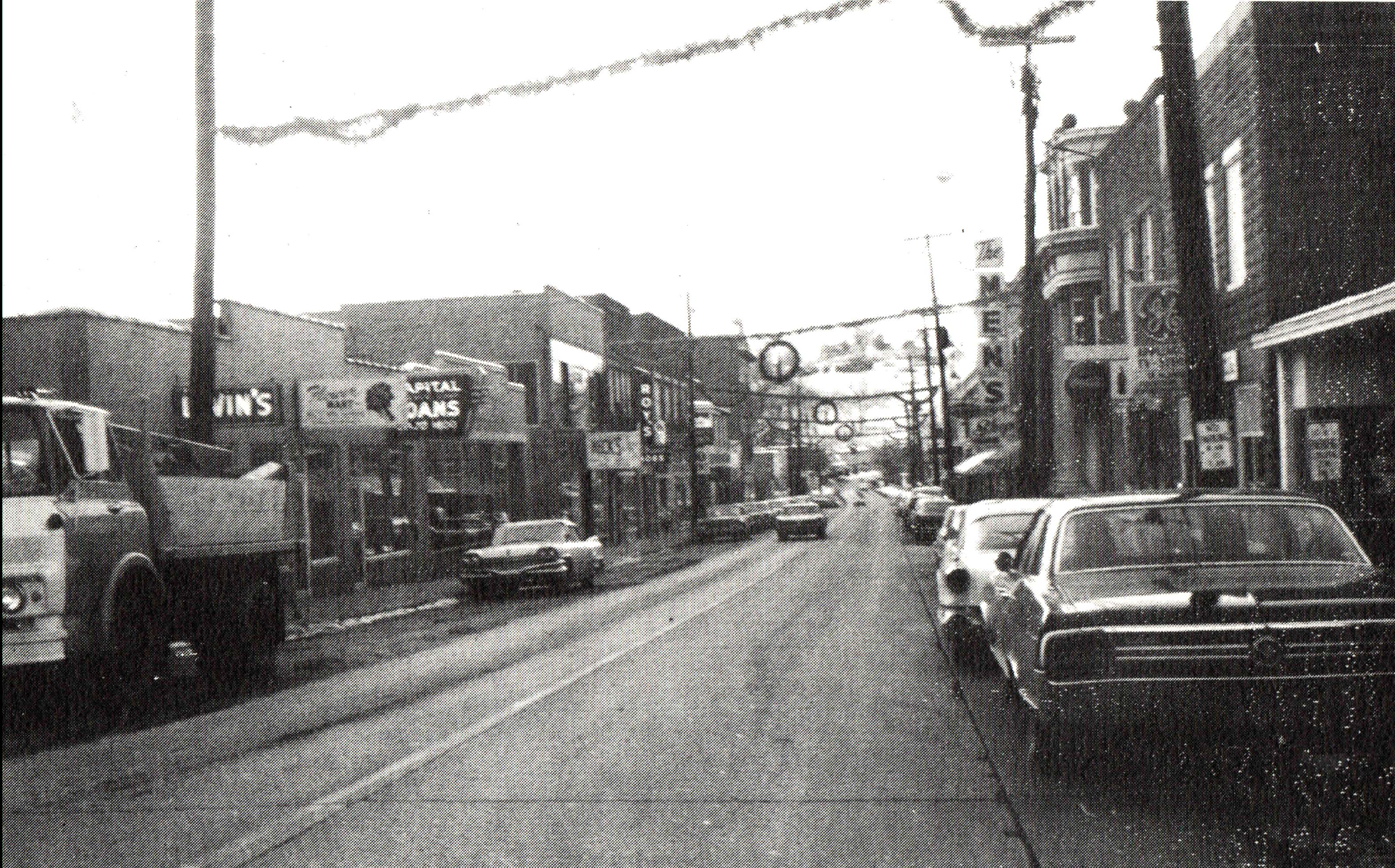 Main St. in the 1960s