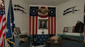 Many historic artifacts are on display in the museum.