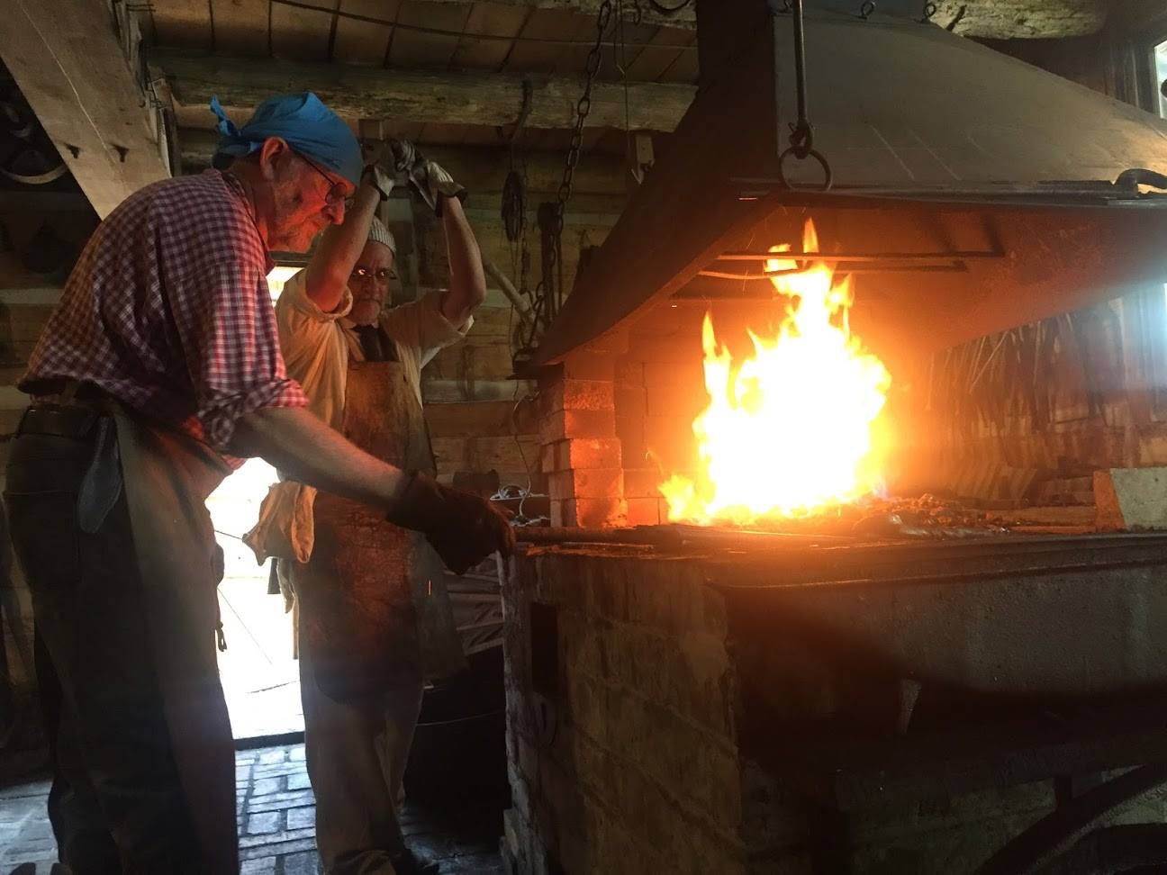 Blacksmiths have to use furnaces to produce 2000-3000 degrees of heat for shaping metal.