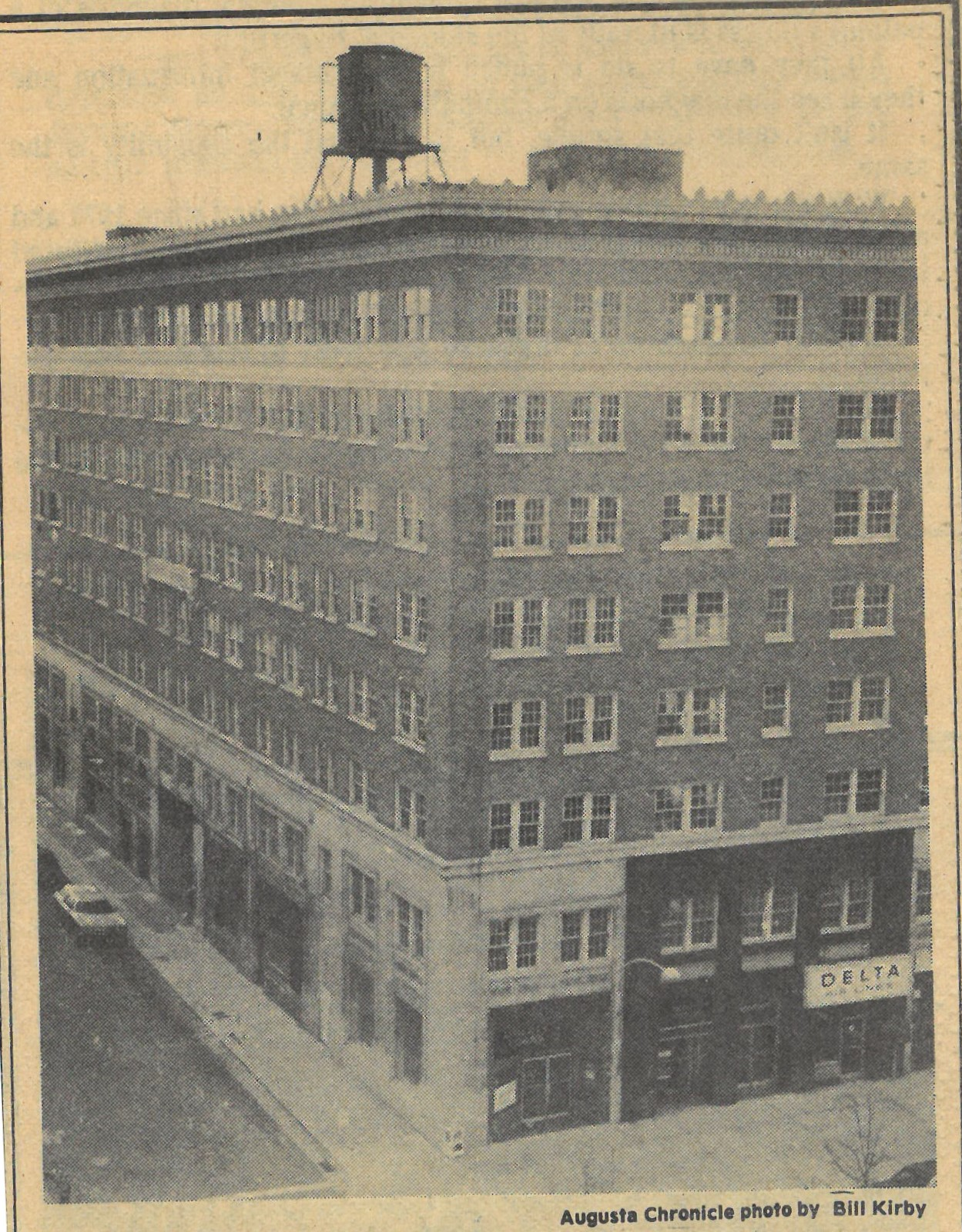 Perspective Shot of Richmond Hotel with Adjacent Albion Avenue C.1979