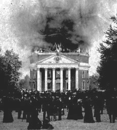 In 1895, the Rotunda was severely damaged by a fire