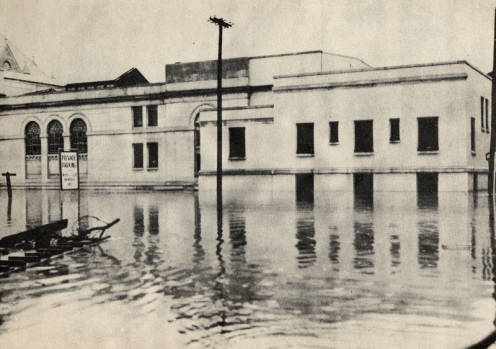 Rear of James V. Brown Library in 1946 Flood