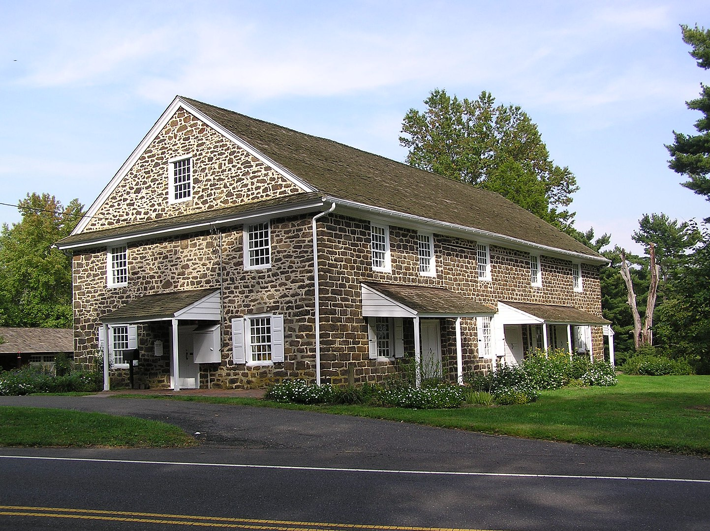 Evesham Friends Meeting House located in what is now Mount Laurel
