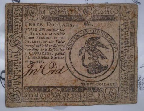 $3 Continental Currency, The United Colonies