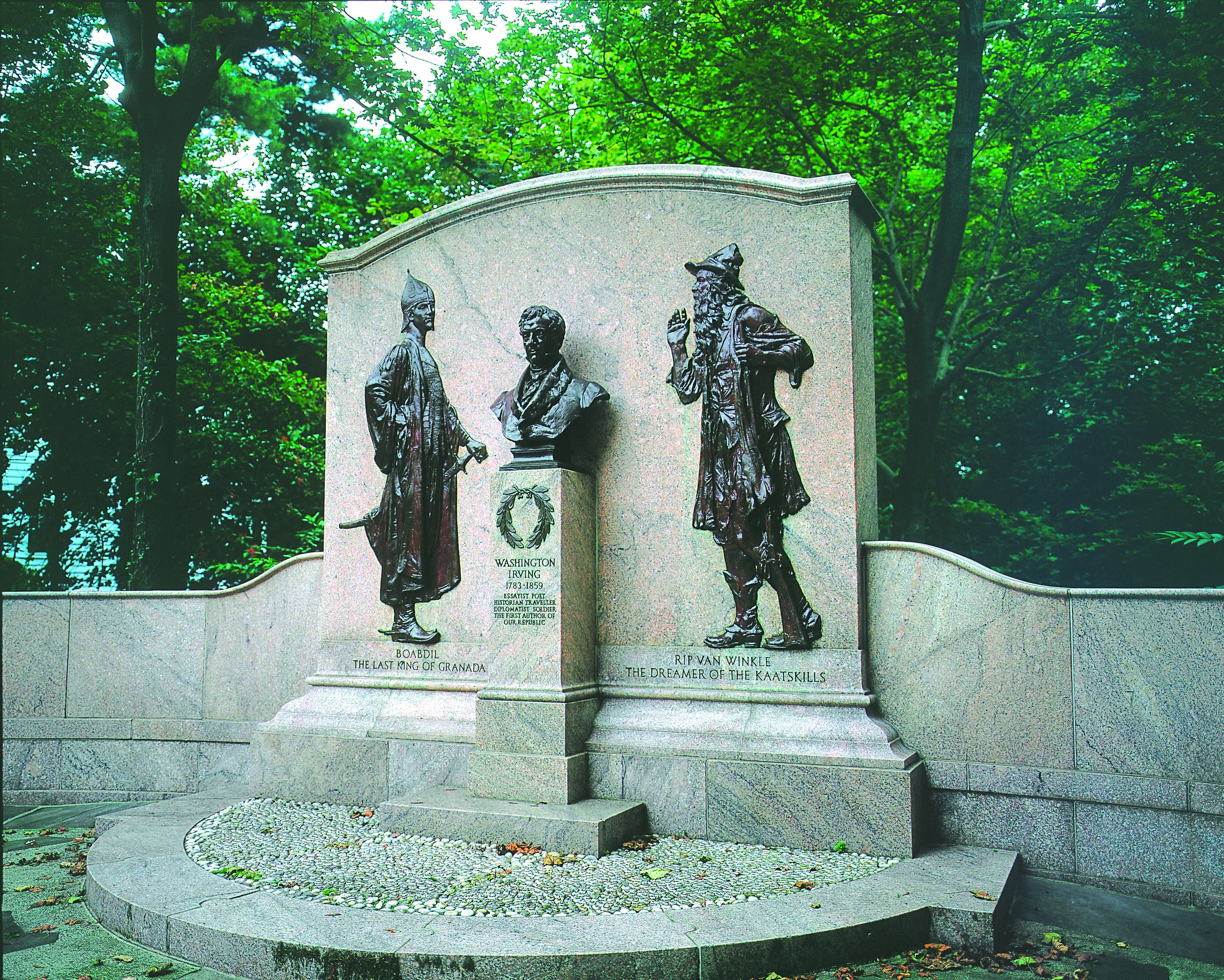 Washington Irving Memorial in 2000.