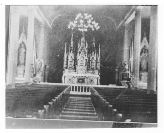 interior of St. Stephen's previous location at 2nd and Mulberry streets