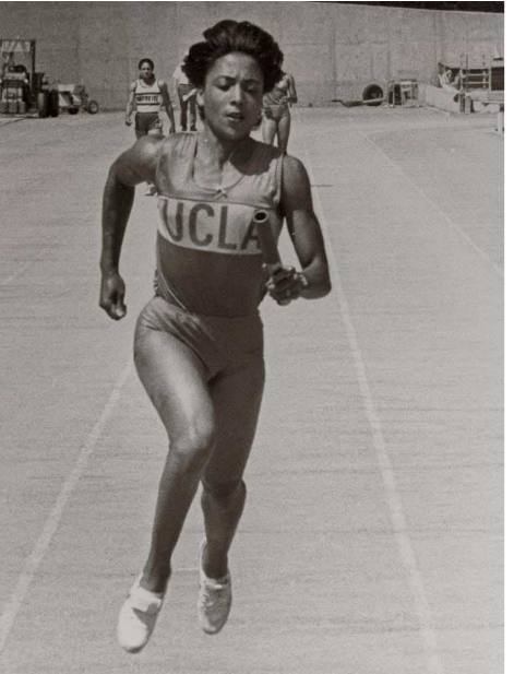 During Florence's career she was one of the many women athletes to compete in NCAA first combined Track & Field championships. SI Staff courtesy of UCLA Athletic Dept. shares Florence Griffith Joyner during her career as one of UCLA's student athlete training.