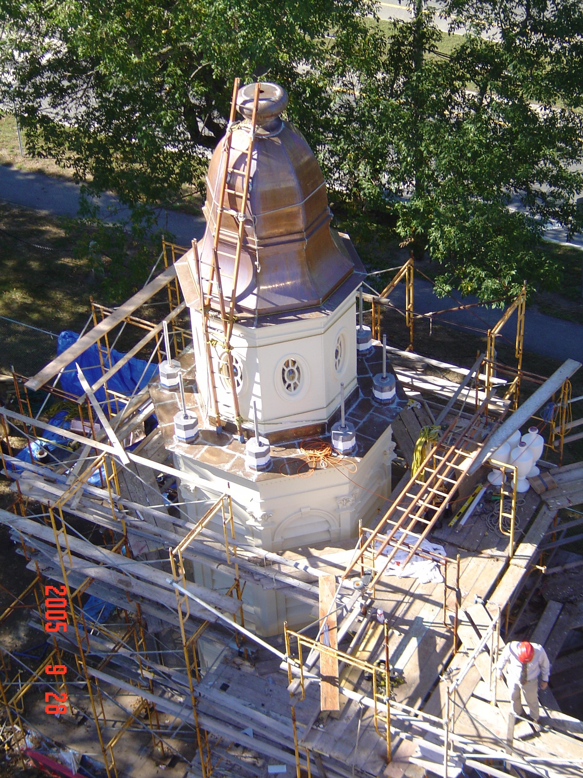 Memorial Bell Tower renovation , 2005