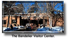 The visitor center at Bandelier park.