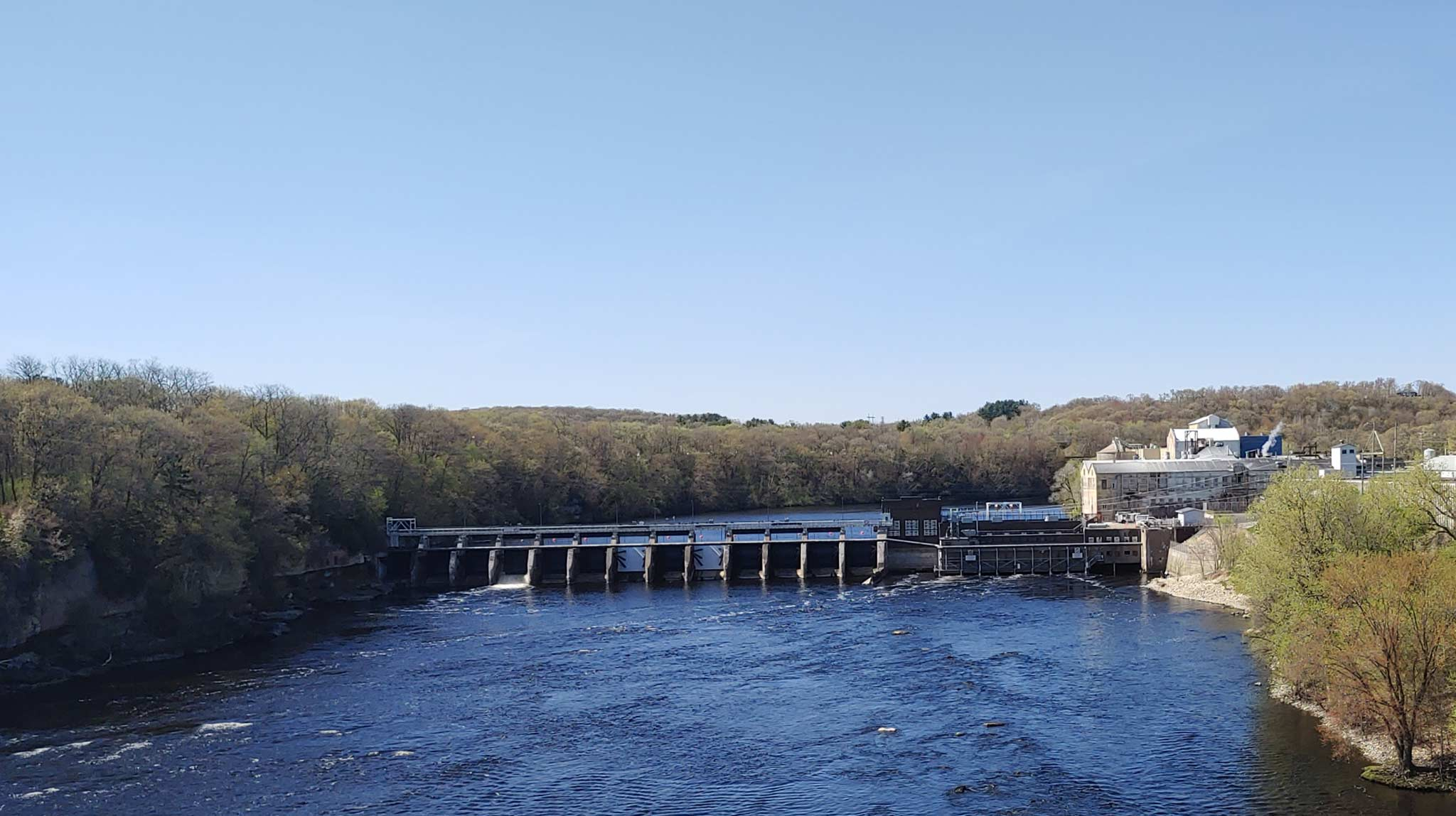 Paper Mill and Dam below Dells Pond