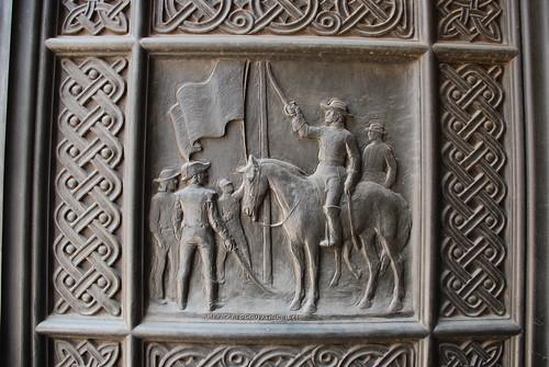 Detail of the City Hall's Bronze Doors