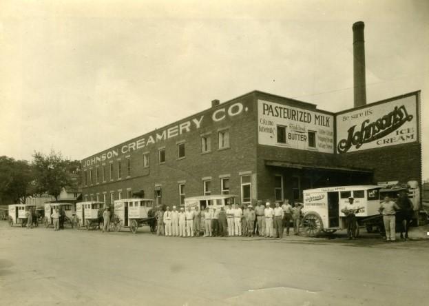 Johnson's Creamery photo from the Monroe County History Center's photo archive