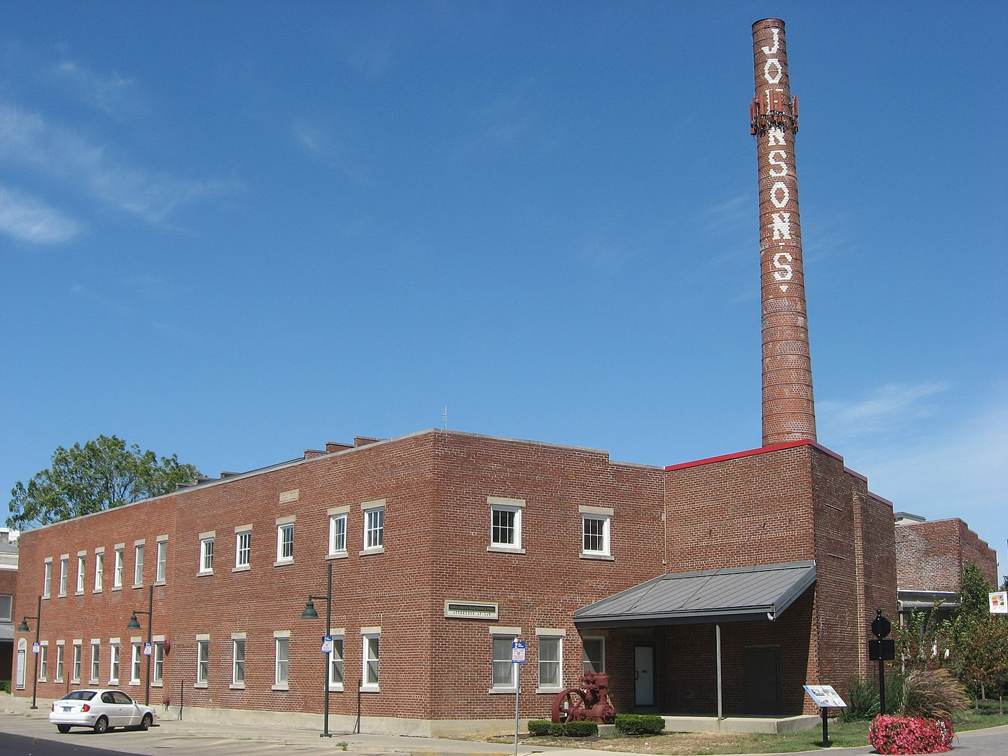 Front of Johnson's Creamery, located at 400 W. Seventh Street in Bloomington, Indiana, United States.
